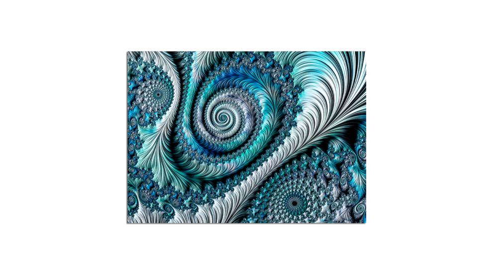 Obraz Glasspik Fractal 80x120 Cm Salony Agata