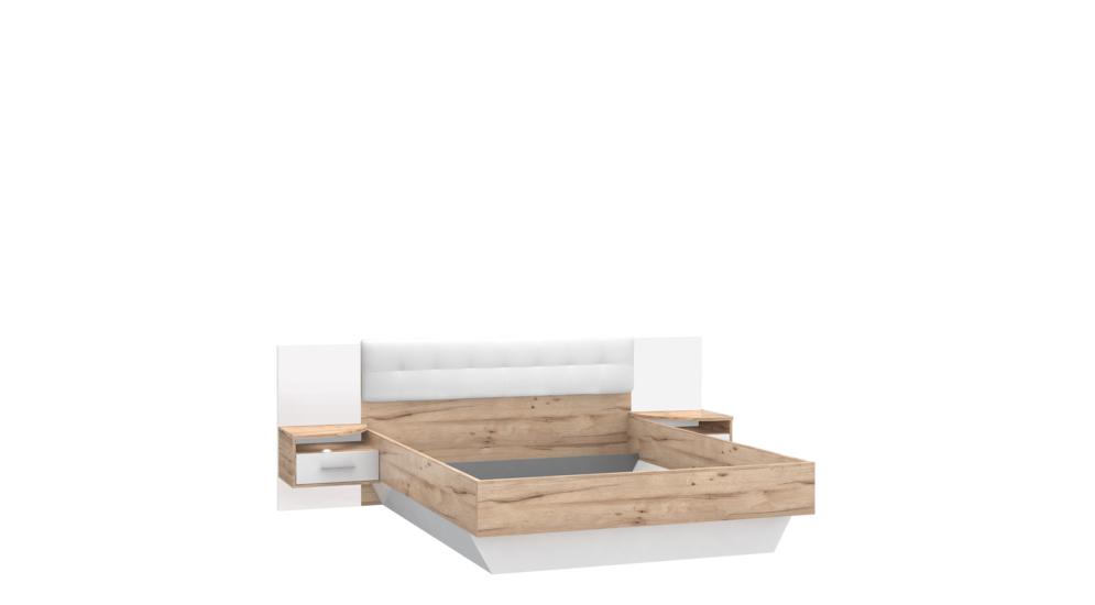 Łóżko + szafki nocne CORSICA CSCL162-C121