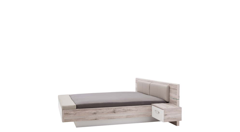 Łóżko i szafki nocne RONDINO RDNL161B