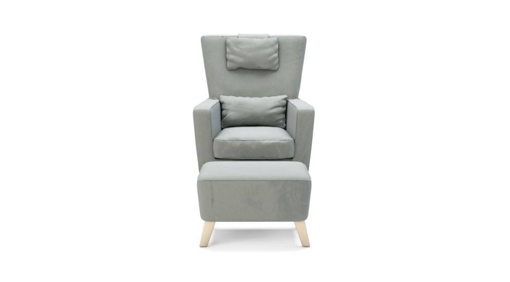 Fotel wypoczynkowy OXFORD z hockerem