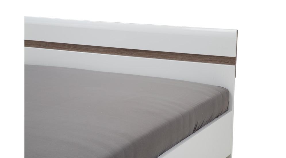 Linate łóżko 140 Ze Stelażem Typ97 Biały Alpejskitruflabiały