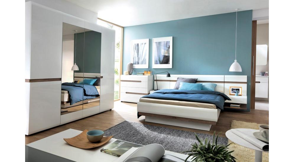 Linate łóżko 160 Ze Stelażem Typ94 Biały Alpejskitruflabiały