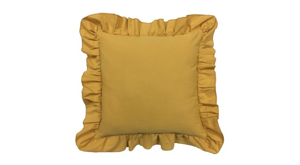 Hor1018 112 Ruffle Poszewka Na Poduszkę 4545cm żółtayellow