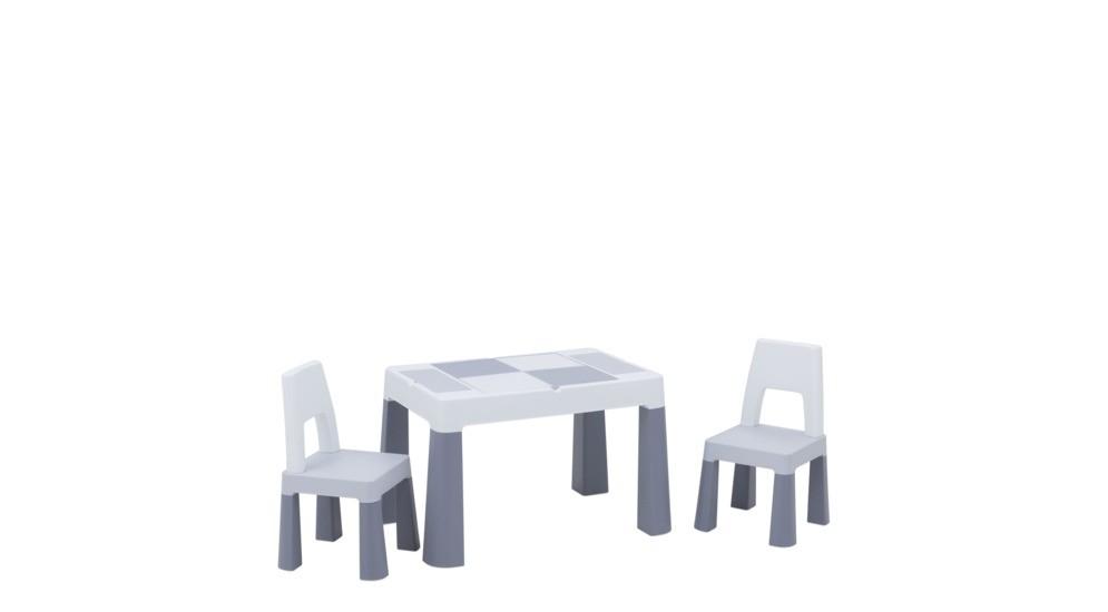Multifun Eco 12 Stolik2 Krzesełka Szary