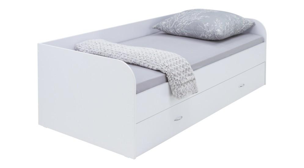 Leon łóżko 90200 Z Szufladą Biały