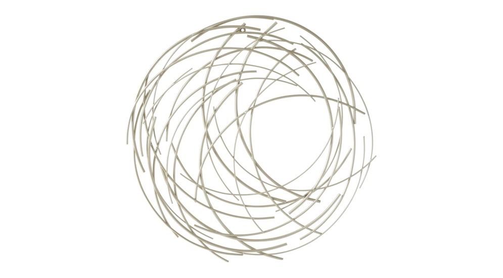 17mj0054 A Dekoracja ścienna Srebrnasilver