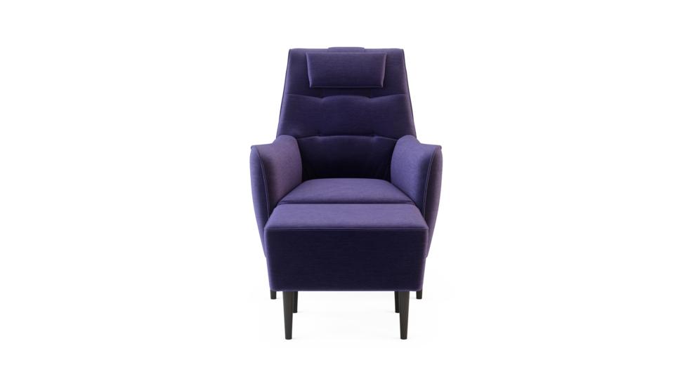 Fotel wypoczynkowy SERENA z hockerem