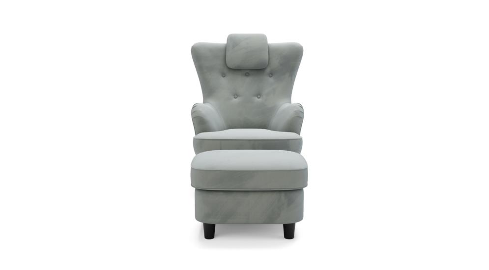 Fotel wypoczynkowy ADELSO z hockerem
