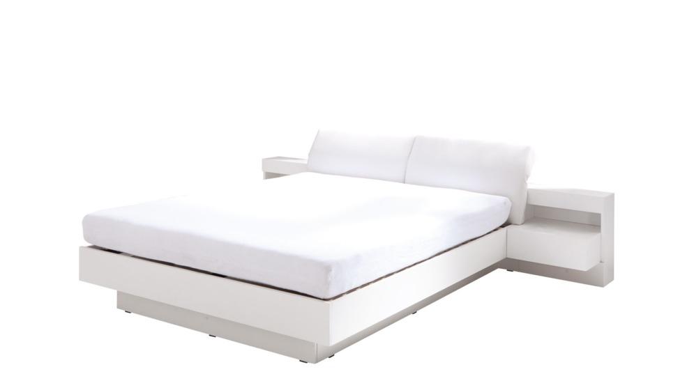 Renato łóżko Z Szafkami Nocnymi Z Oświetleniem Typ3223 Biały Alpejskiekoskóra Białabez Pojemnika