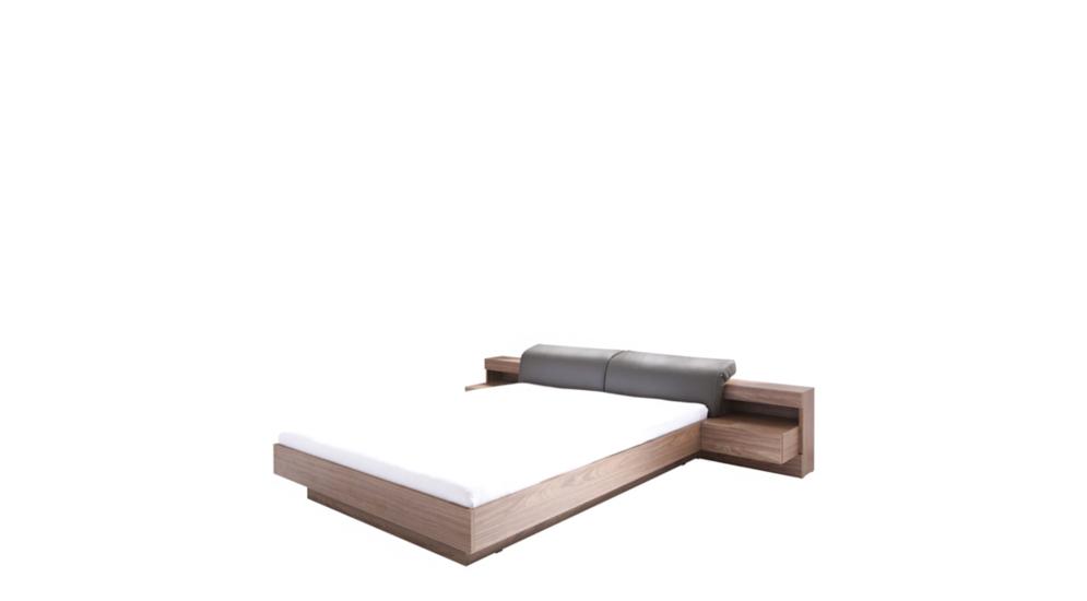 Łóżko RENATO z szafkami nocnymi oświetleniem i pojemnikiem TYP82/23