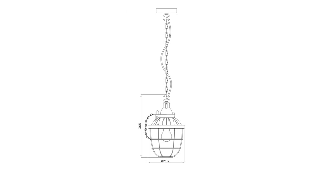 Lampa wisząca INDRUSTIAL PL-16080-WH