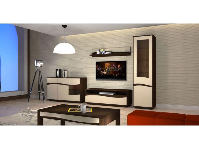 Salon wenge dco salon peinture murale blanche parquet - Peinture wenge pour meuble ...