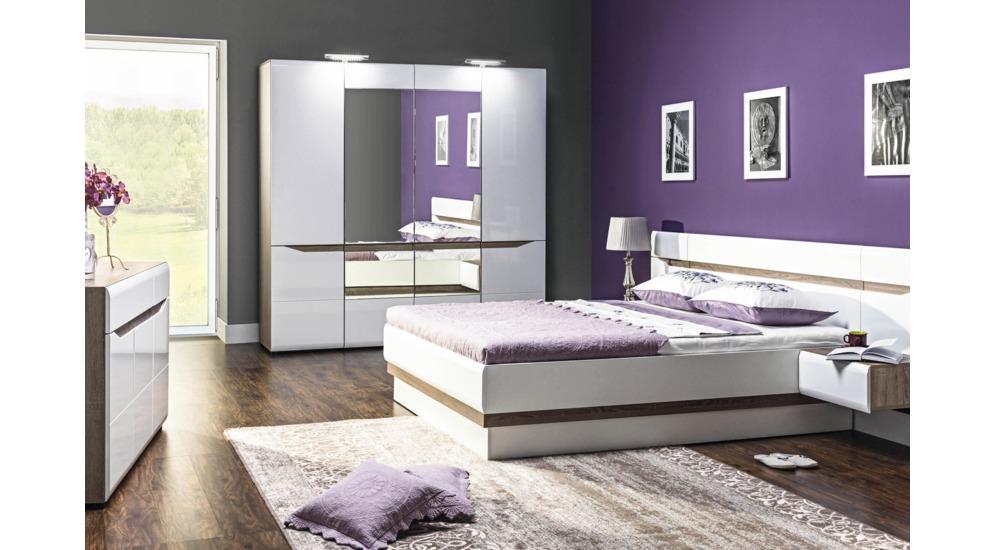 Lionel łóżko Li12180 Sp Dąb Sonoma Truflowybiały Połysk