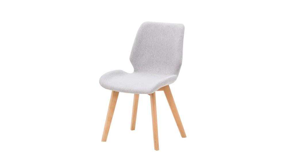 Diaz Krzesło C 872 Tkanina Jasno Szara G022 16buk Naturalny