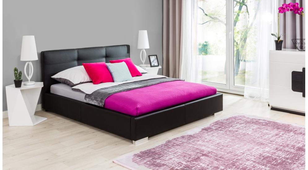 Delia łóżko 160200 Tkanina Ekosoft100
