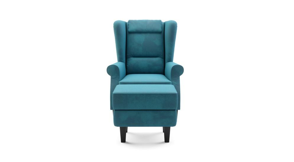Fotel wypoczynkowy WELLINGTON z hockerem