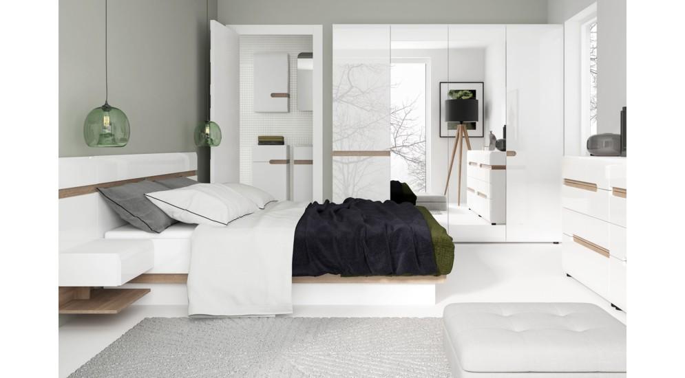 Linate łóżko Typ92 Biały Alpejskitruflabiały
