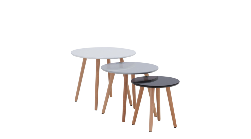 Komplet trzech stolików LUCCA