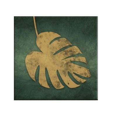 Obraz CANVAS GOLD MONSTERA 65x65 cm