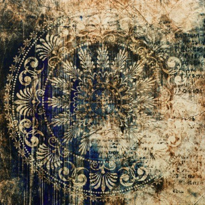 Obraz CANVAS SILVER BLUE ARRAS 65x65 cm