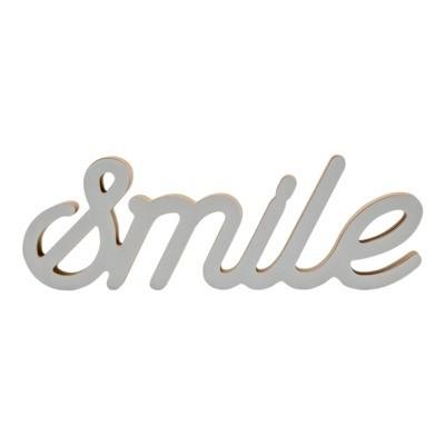 Napis dekoracyjny stojący SMILE