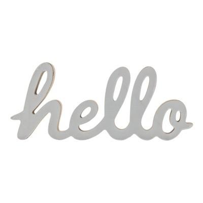 Napis dekoracyjny stojący HELLO