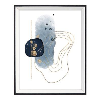 Obraz GOLD & BLUE 30x40 cm