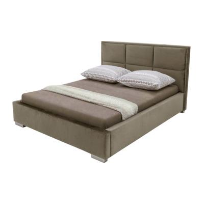 Łóżko BREMA BRĄZ 160x200, ze stelażem