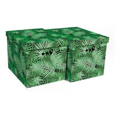 Komplet 2 pudeł XL TROPIKALNA ZIELEŃ