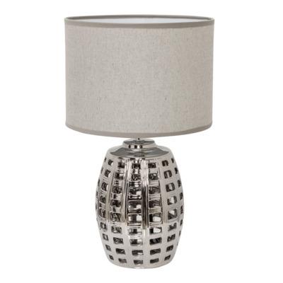 Lampa stołowa 36425-2 srebrno-szara