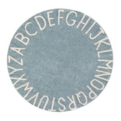 Dywan ABC VINTAGE BLUE 150 cm - bawełna