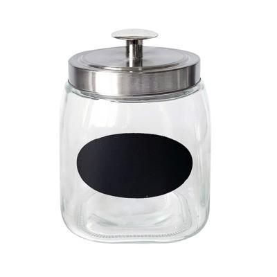 Pojemnik szklany z kredową tabliczką 1,9 l