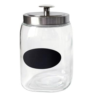 Pojemnik szklany z kredową tabliczką 2,7 l