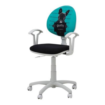 Krzesło obrotowe dla dziecka SMART WHITE pies