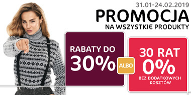Rabaty do 30% albo 30 rat 0%